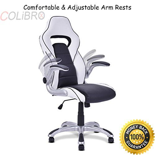 Colibrox High Back Executive Racing Style Office Chair Gaming Adjule Armrest Pu Leather Swivel Computer Desk Seat