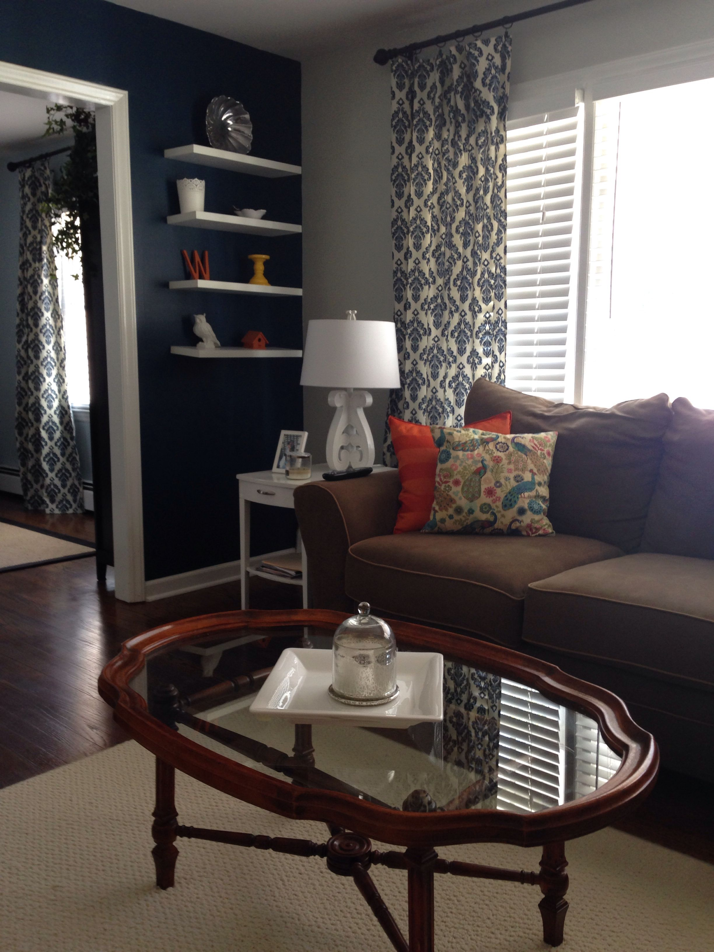 Navy Blue Living Room Curtains