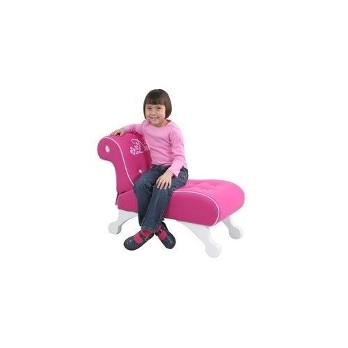 Peachy Girls Kids Pink Diva Princess Chaise Lounge Upholstered Gmtry Best Dining Table And Chair Ideas Images Gmtryco