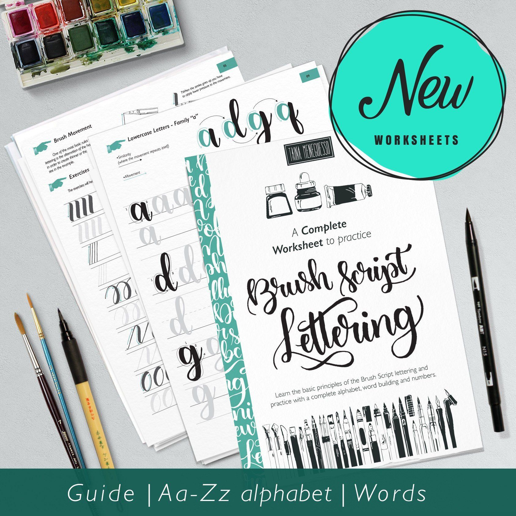 Hand Lettering Worksheet Learn Calligraphy With A Complete