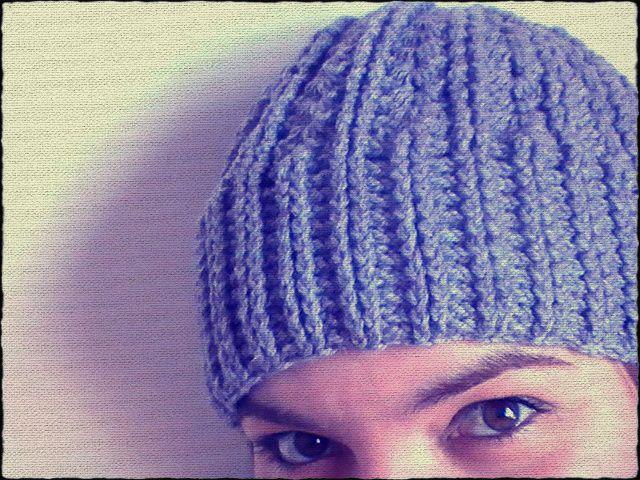 Gorro a crochet con punto elástico tanto para hombres como mujeres ...