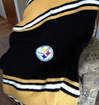 Steelers Blanket Pattern Loom Knit By Daynascolesdesigns On Etsy