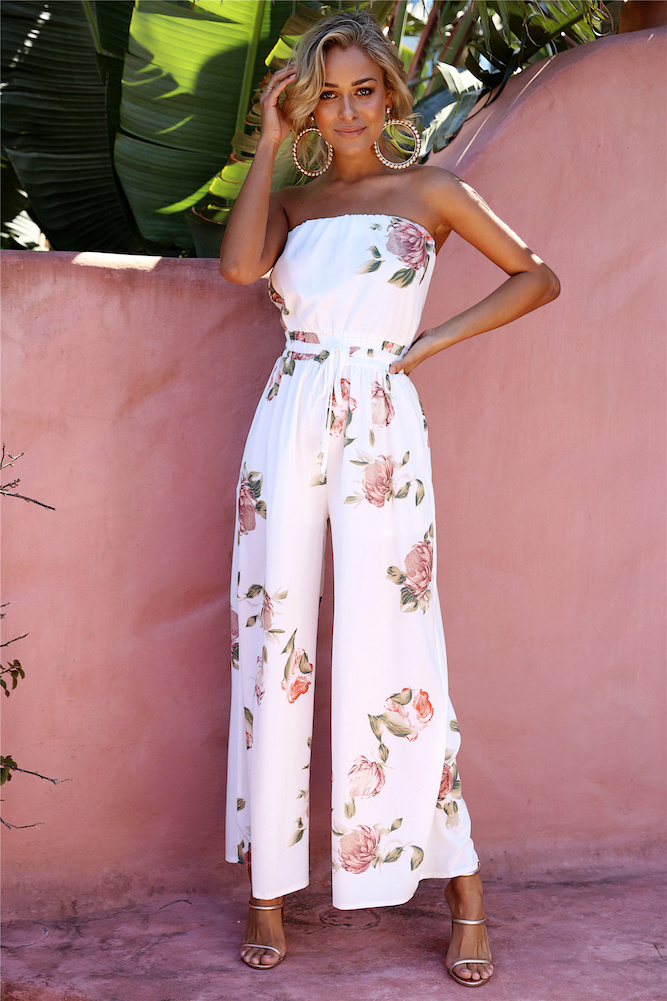 Photo of Middle Of The Hill Jumpsuit White