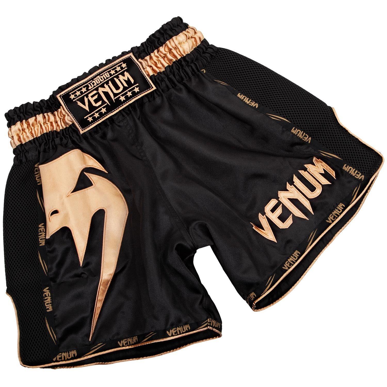 Venum Giant Muay Thai Shorts Black Gold Muay Thai Thai Boxing Shorts Boxing Shorts
