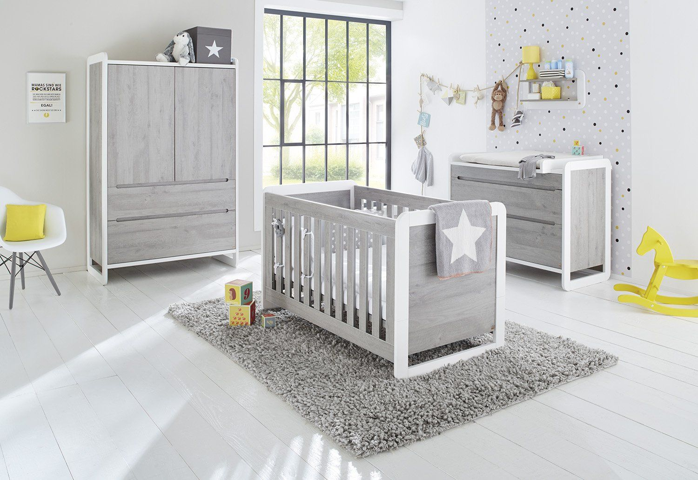 Pinolino komplettes Babyzimmer Set 3Teilig, Kinderbett