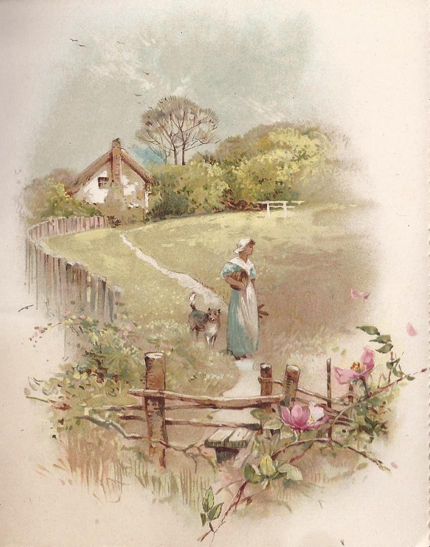 Старинные открытки с пейзажем, про аню