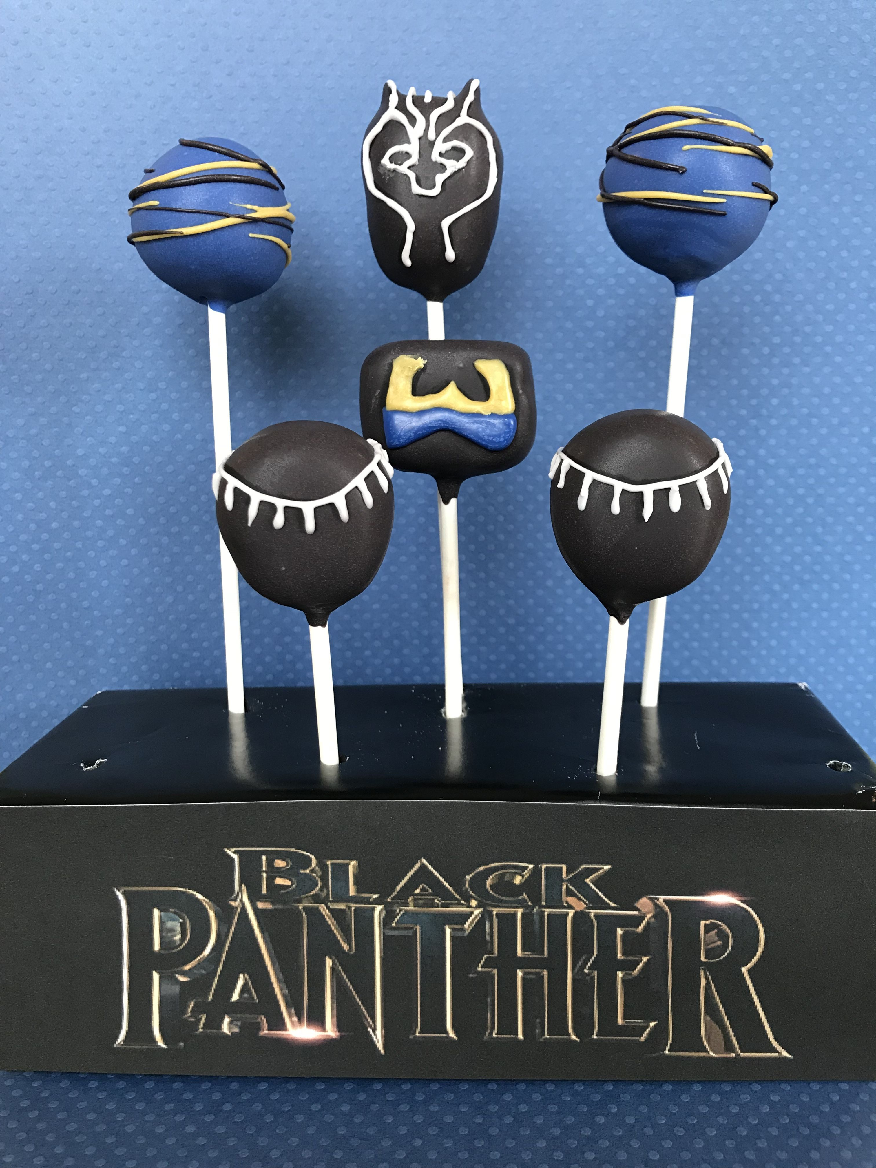 Black Panther Inspired Cake Pops Great Addition To A Kids Birthday