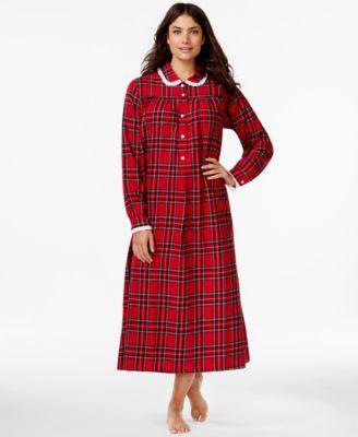 359b0ba765 Lanz of Salzburg Collared Flannel Nightgown