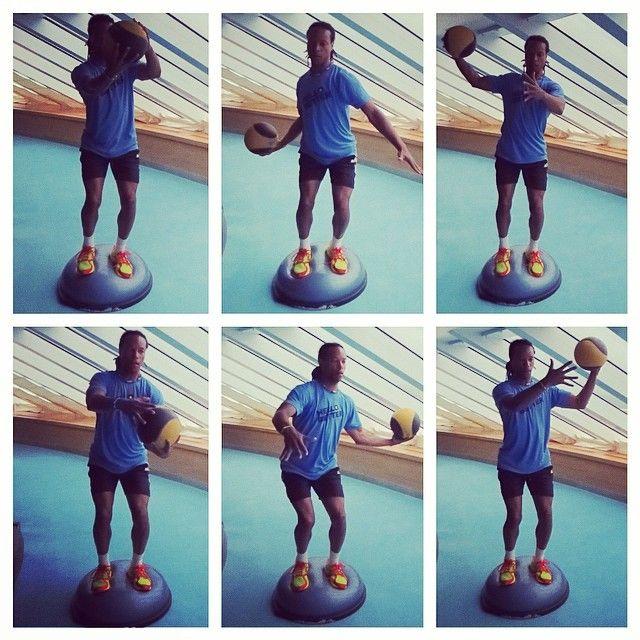 Medicine Ball Figure 8's #bosu #exercise #workout #medicineball