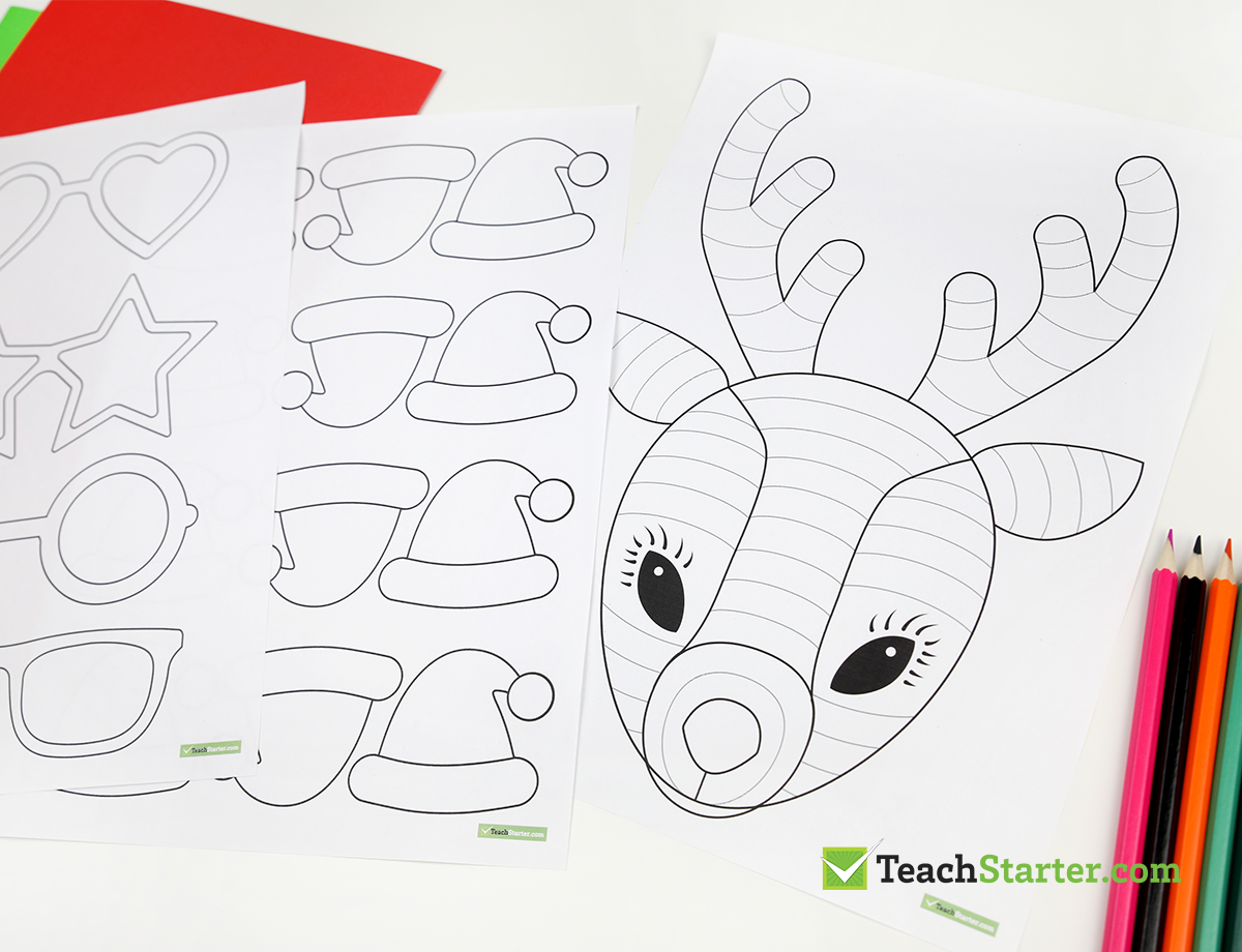 Christmas Craft The One And Only Funky Reindeer Teach Starter Reindeer Craft Christmas Art For Kids Fun Christmas Crafts