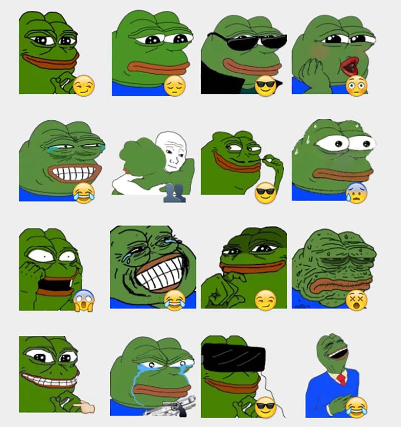 9cb93be1e356c2ebd4530cea181f471a pepe the frog stickers set telegram stickers rare pepe