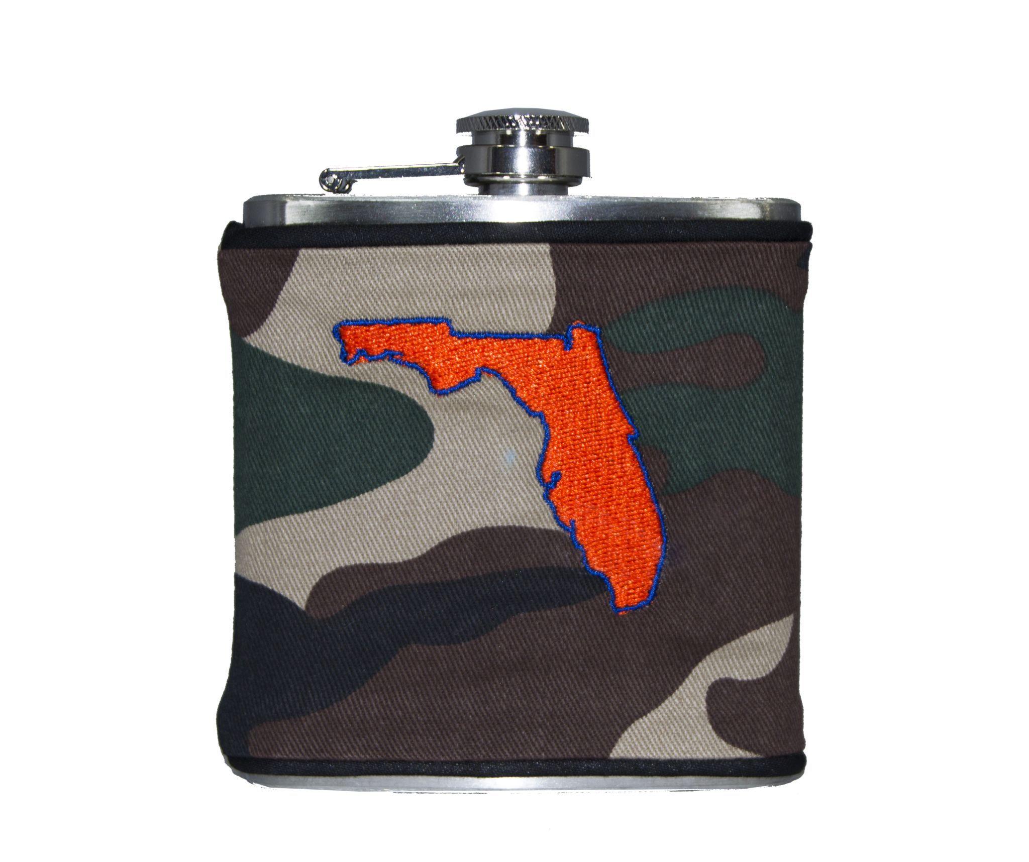Florida Flask - Camo, Royal Blue & Orange