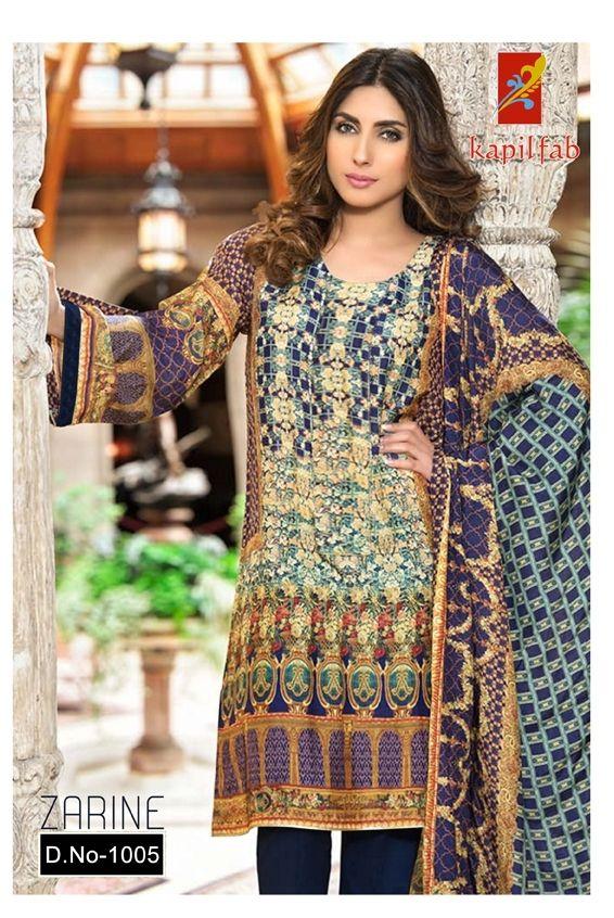 254cb931fa Zarine Lawn Cotton Collections (7 pcs Catalog) Salwar Suits, Pakistani Suits,  Salwar