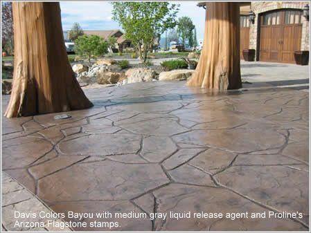 Photos By Color Davis Colors Concrete Patio Concrete Decor Stamped Concrete