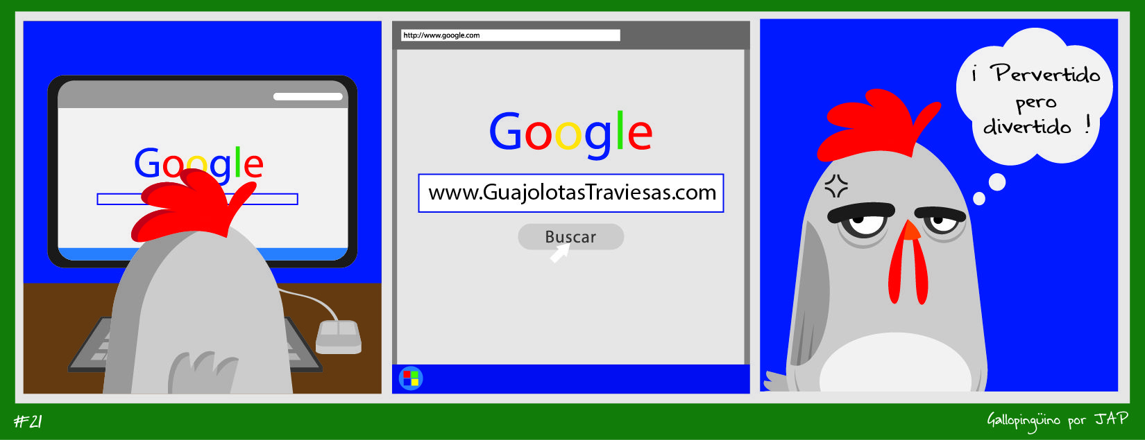 """""""Martes de Recalentado"""" presenta Gallopingüino No. 21 !!! Porque somos gente decente !!! #GallopinguinoQuotes www.facebook.com/gallopinguino"""
