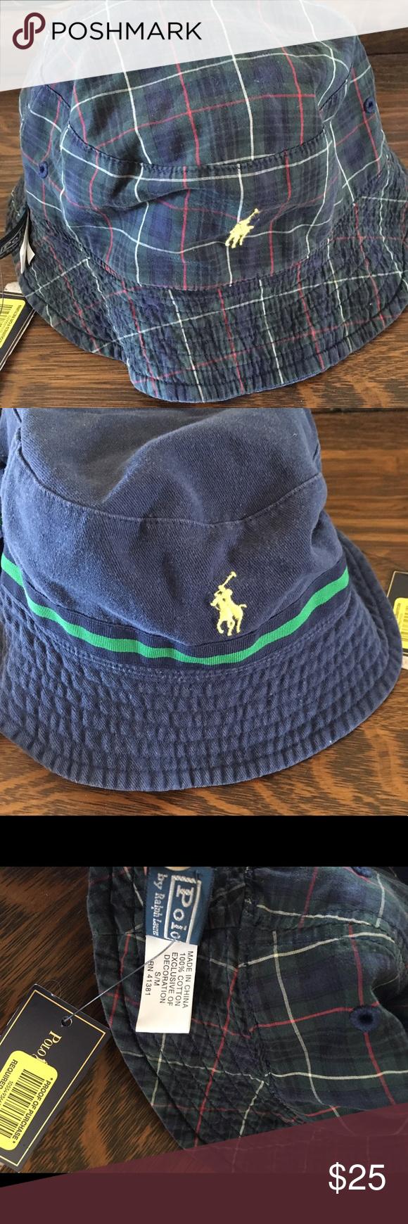 NWT Ralph Lauren bucket hat reversible FAB plaid! NWT