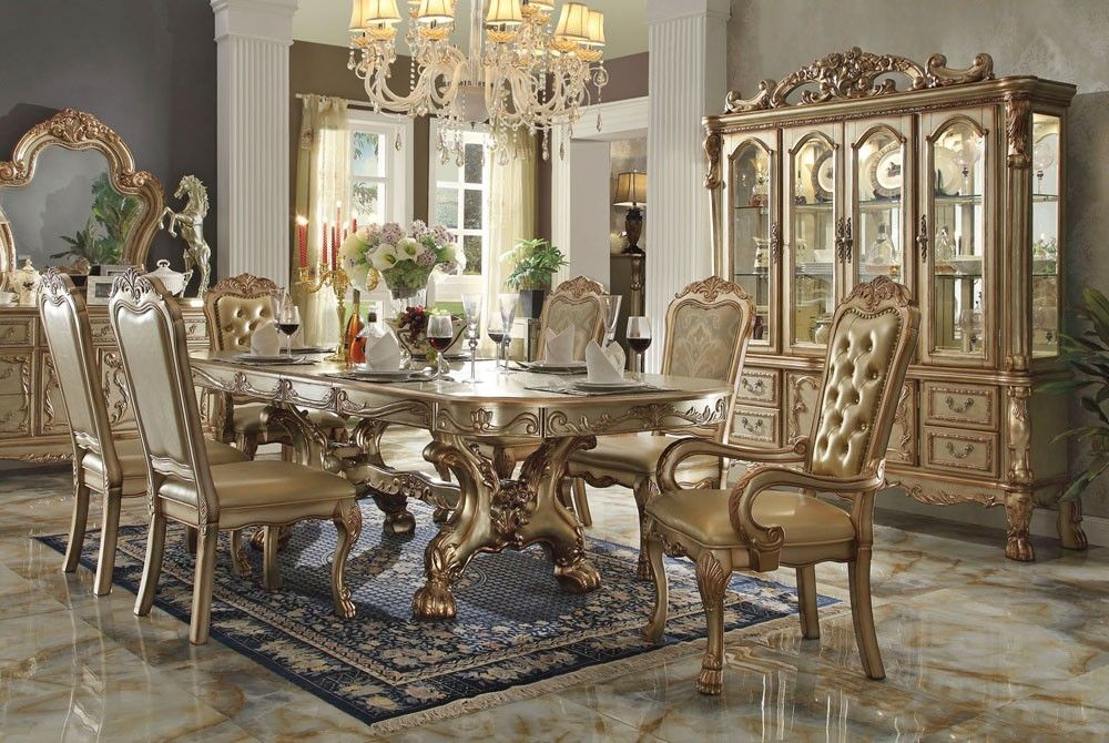 37++ Dining table set gold Trend