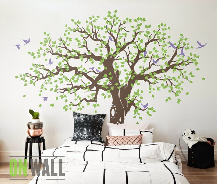 grand arbre g n alogique muraux stickers muraux chambre d enfant arbre arbre d coration murale. Black Bedroom Furniture Sets. Home Design Ideas