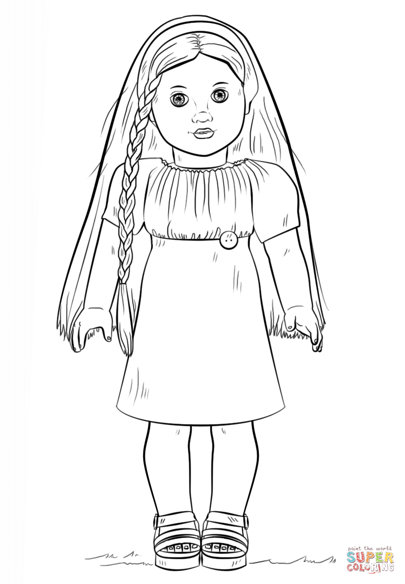 american doll coloring pages Pin by Michele Anderson on Dolls  18"
