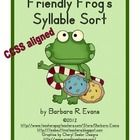 Friendly Frog's Syllable Sort