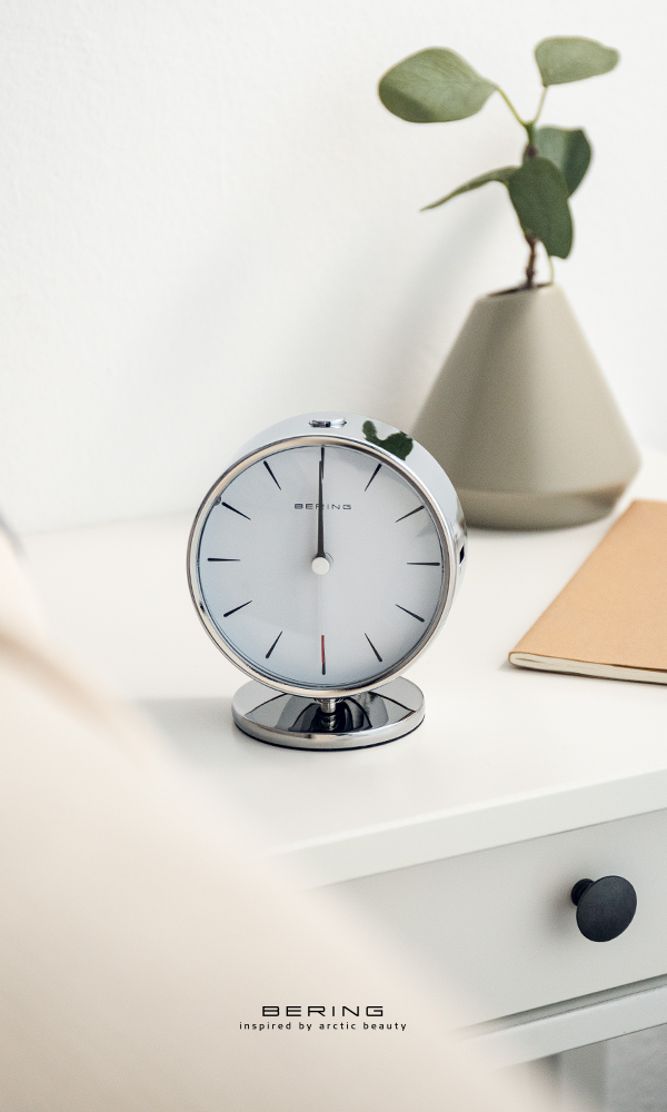 Add A Scandinavian Touch To Your Nightstand Bering Beringtime Alarmclock Silver Scandinaviandesign Alarm Clock Silver Gifts For Him