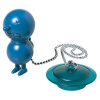 Alessi - Massimo Giacon - Mr Suicide Bath Plug - Blue