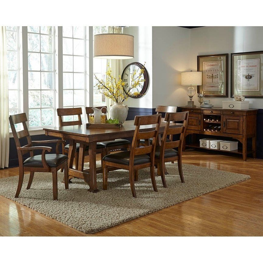 Simply Solid Kern Solid Wood 10 Piece Dining Collection Brown
