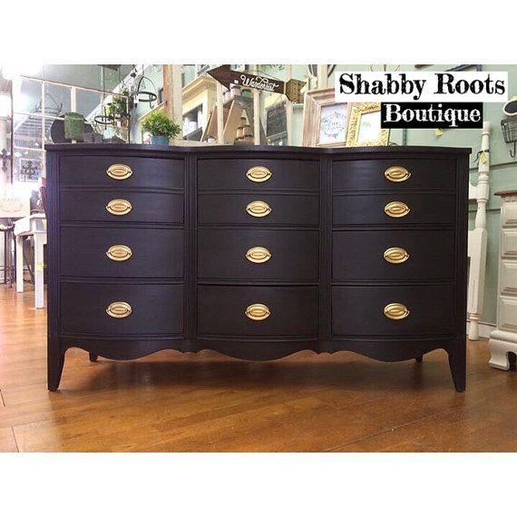 Best Sold Vintage Bow Front Dresser 9 Drawer Bedroom Dresser 400 x 300