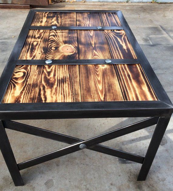 items similar to wood coffee table industrial style table on stunning wooden metal coffee table id=87013