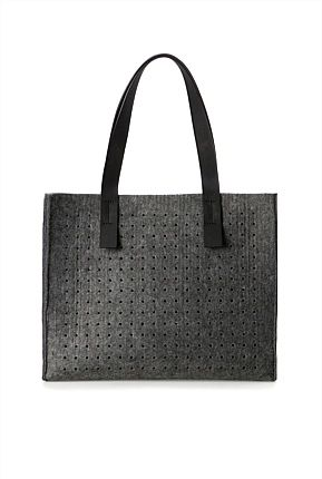 Perforated Grey Felt Bag. May be available country road South Africa ...