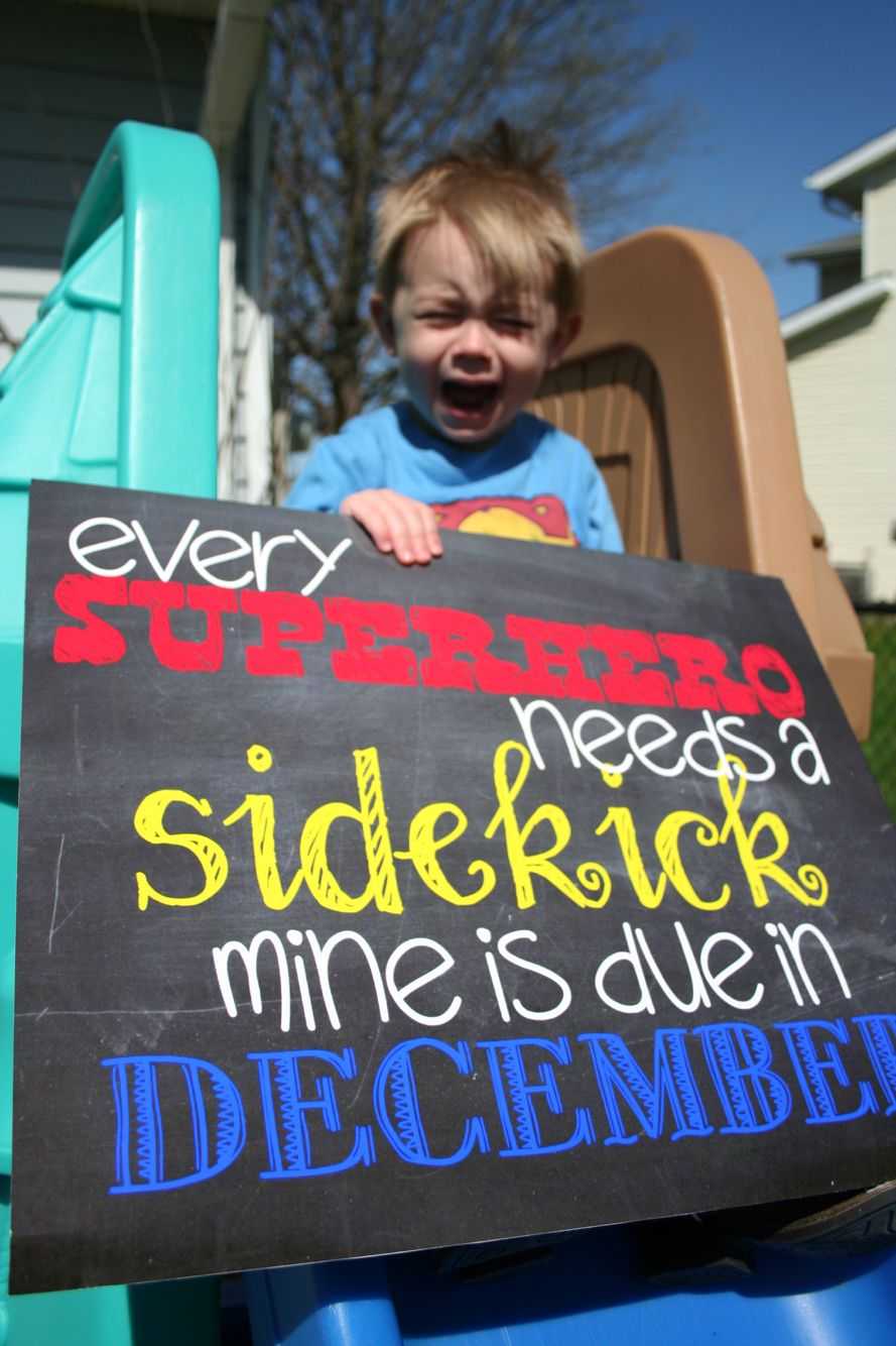 Pregnancy announcement  Big brother Superhero  Perfect