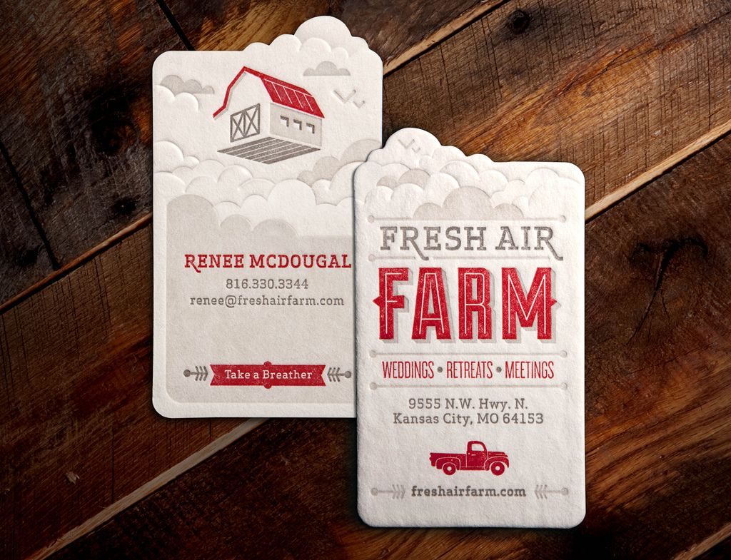 Fresh Air Farm Business Card (by Whiskey Design)