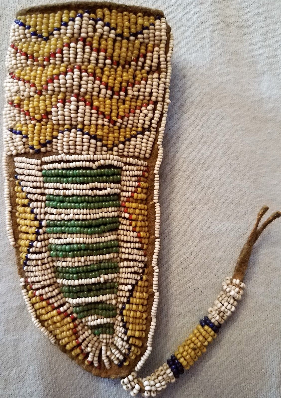 Cheyenne Or Iroquois Beaded Knife Sheath Amp Knife