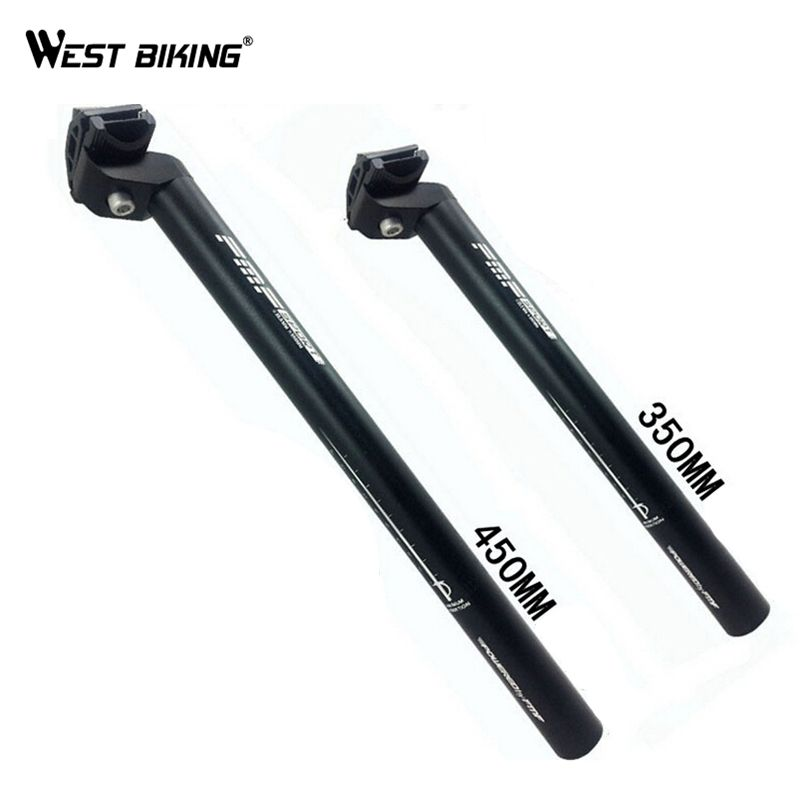 WEST BIKING 25.4/27.2/28.6/30.4/30.8/31.6*350mm/450mm Mountain Bike Zadelpen Buis MTB Road Fiets Bike Seat Post