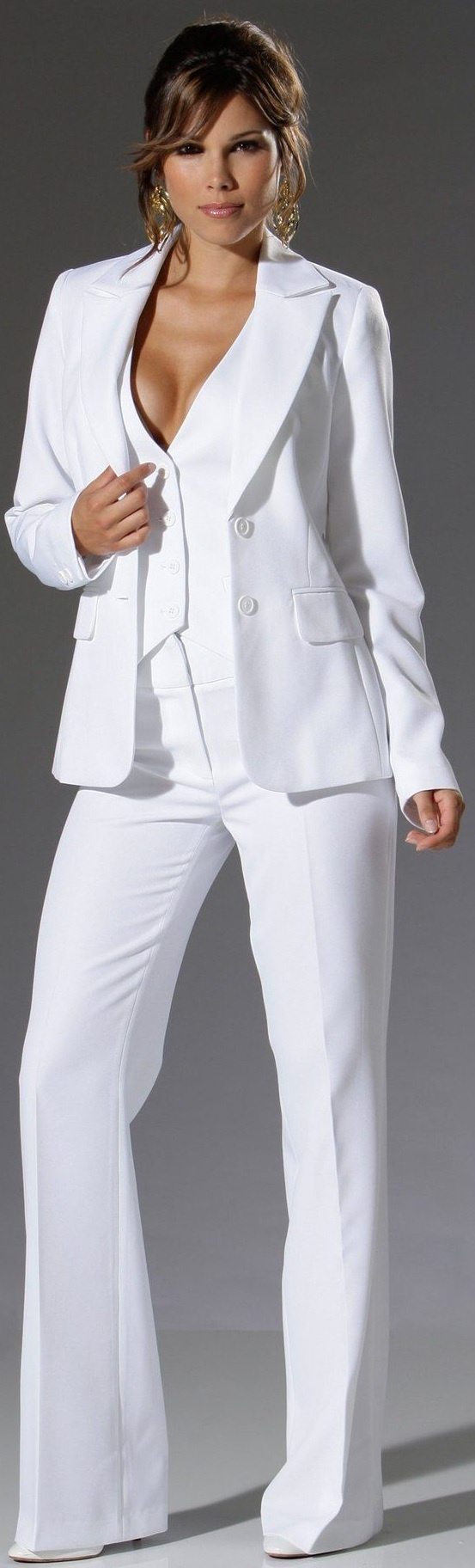 Rosamariagfrangini Office White Suits Pant Suit Women For