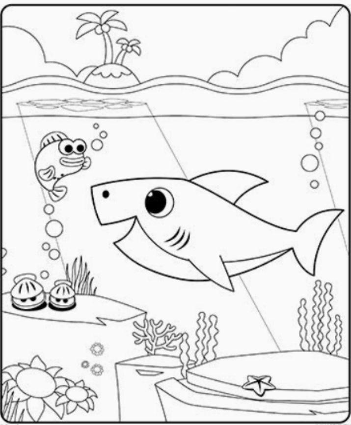 Pinkfong, super simple Раскраска акуленок бейби шарк em ...