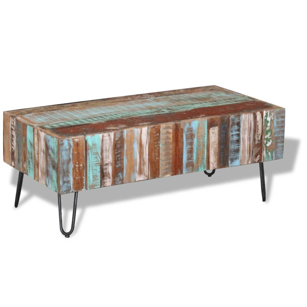 ZUN Coffee Table Solid Reclaimed Wood 39.4