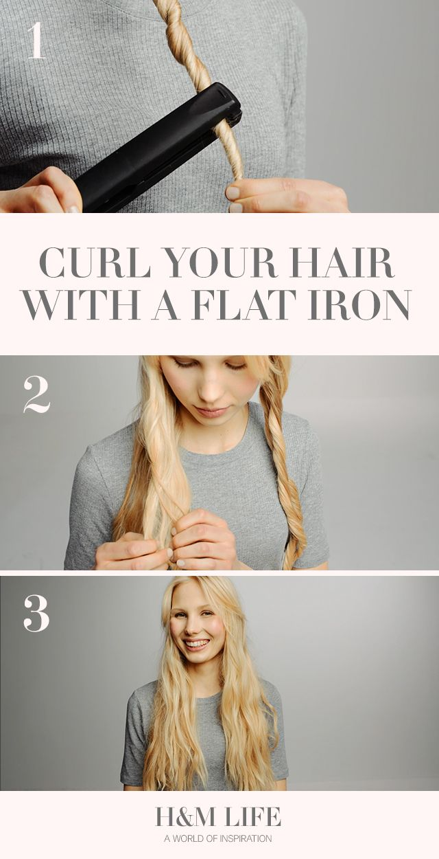 How To Get Waves With a Flat Iron. | Read more at H&M Life