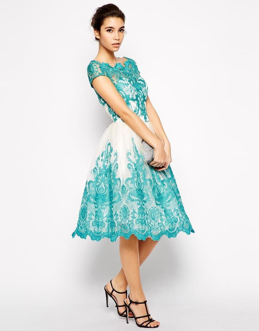 Chi Chi London | Chi Chi London Premium Embroidered Lace Prom Dress ...