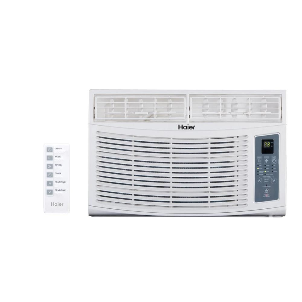 Haier 6 000 Btu Energy Star Window Air Conditioner With Remote Esa406r Window Air Conditioner Casement Air Conditioner Room Air Conditioner