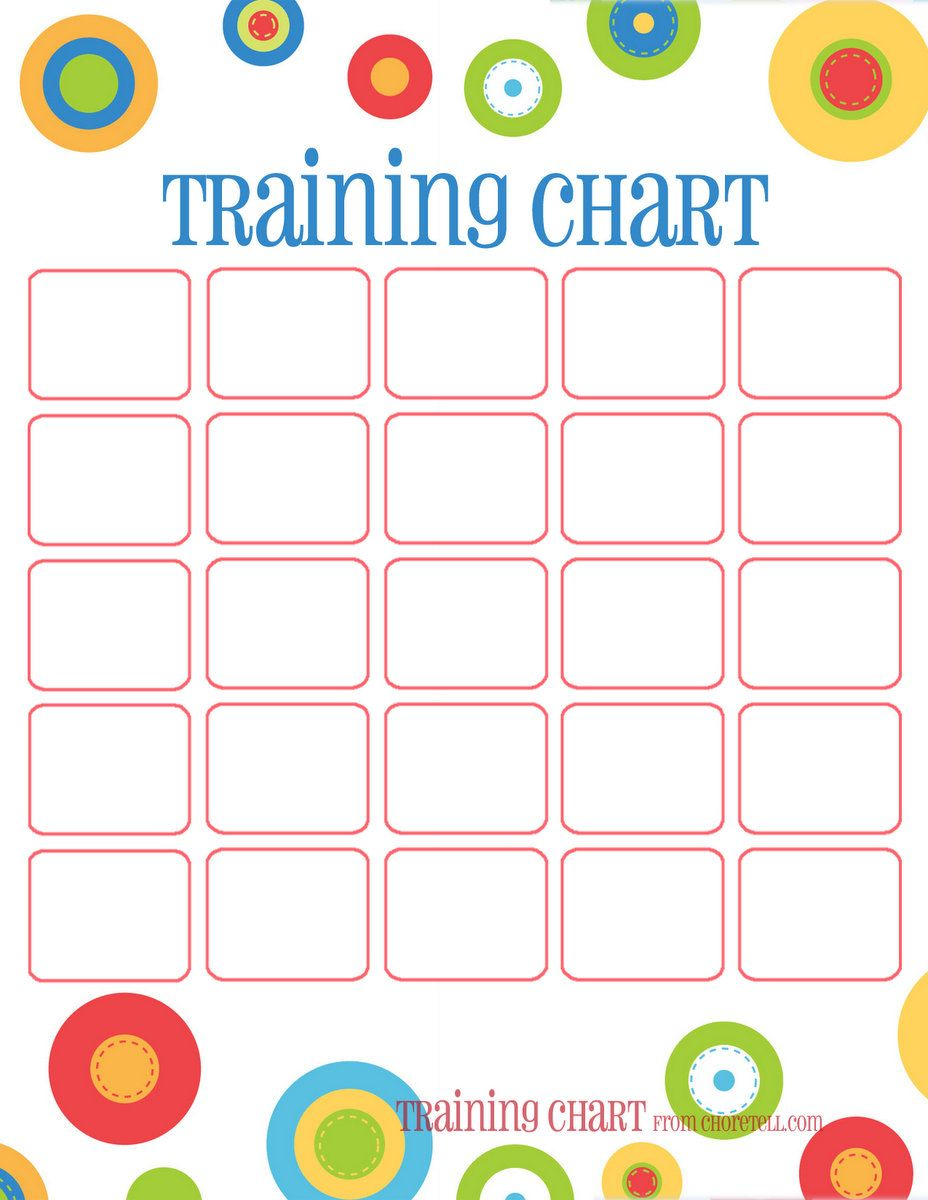 Dots Reward Charts Potty Training  More  Free Printable