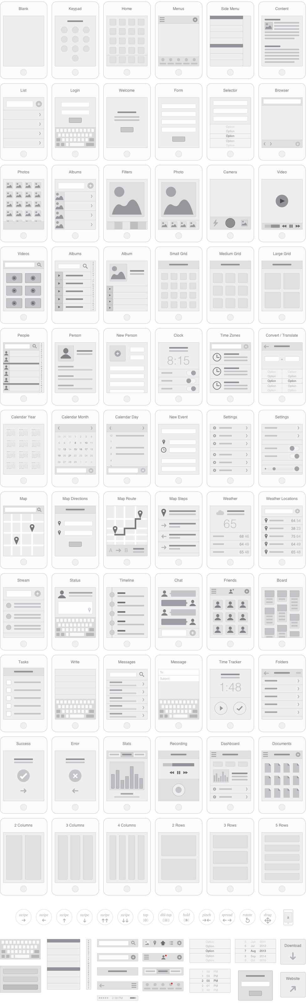 Mobile App Visual Flowchart for Illustrator, OmniGraffle or Sketch ...