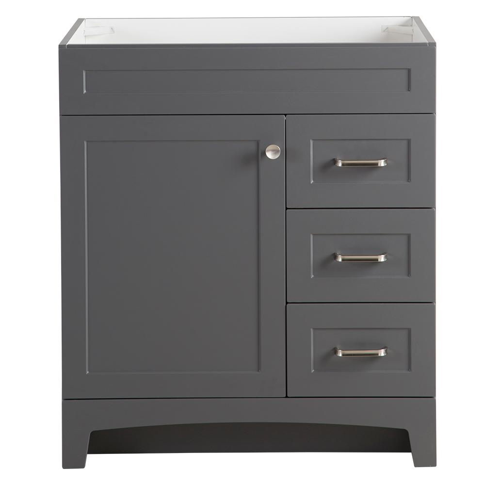 Home Decorators Collection Thornbriar 30 In W X 21 In D Bathroom Vanity Cabinet In Cement Tb3021 Ct With Images Bathroom Vanity Cabinets Vanity Cabinet Home Decorators Collection