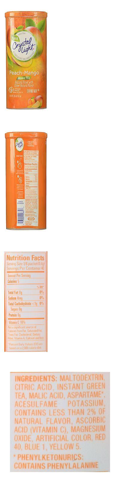 Drink Mixes 179192: Crystal Light Drink Mix Peach Mango Green Tea Pitcher  Packets 5 Count