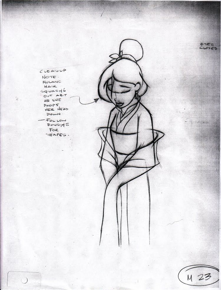 Line Drawing Library : Living lines library mulan character design and