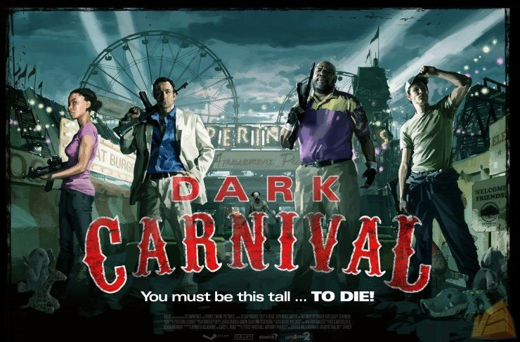 Dark Carnival Campaign Poster Left 4 Dead Talking To The Dead Dead