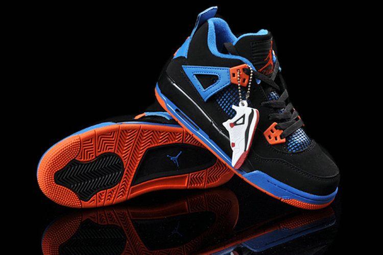 Air Jordan 4 GS Cavs Black Orange Blaze Old Royal 308497 02  10bbadf9d