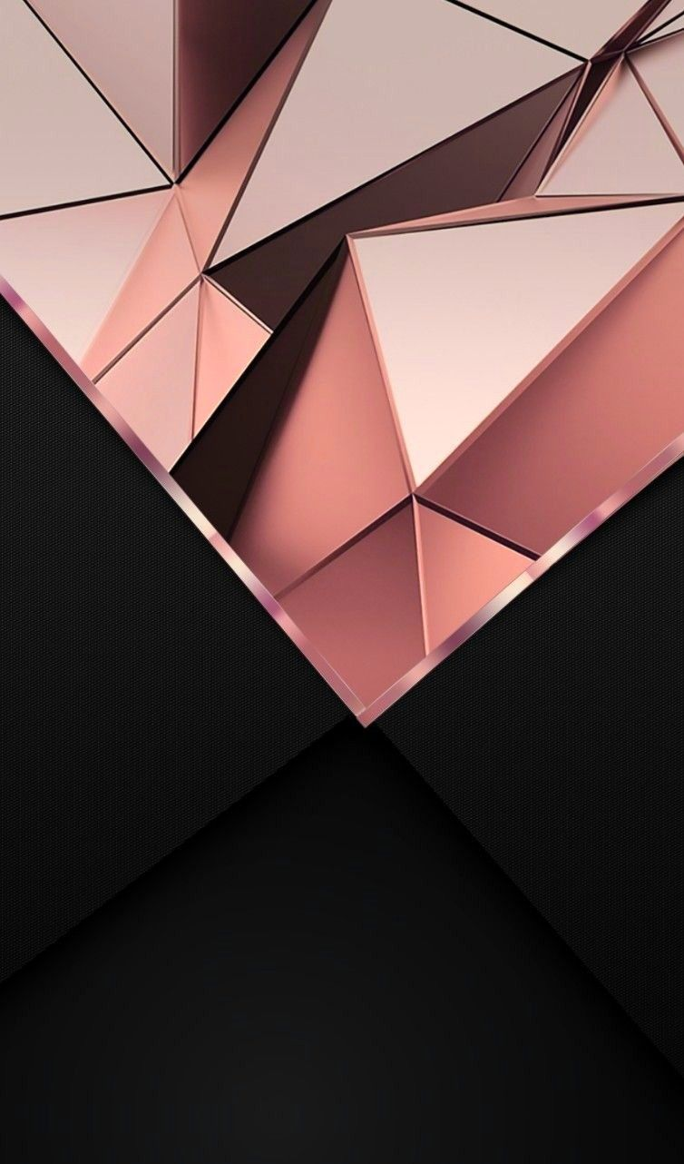 Rose Gold And Black Backgrounds Pinterest Pink Wallpaper