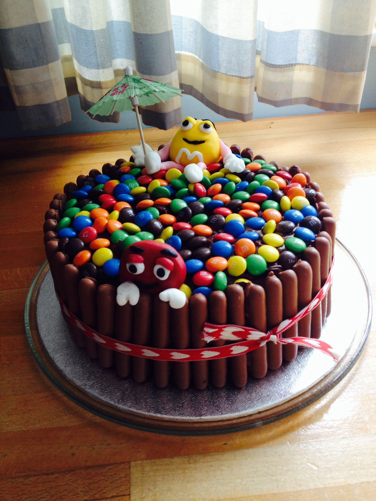 Mm Chocolate Birthday Cake For My 11 Year Old First Attempt Not