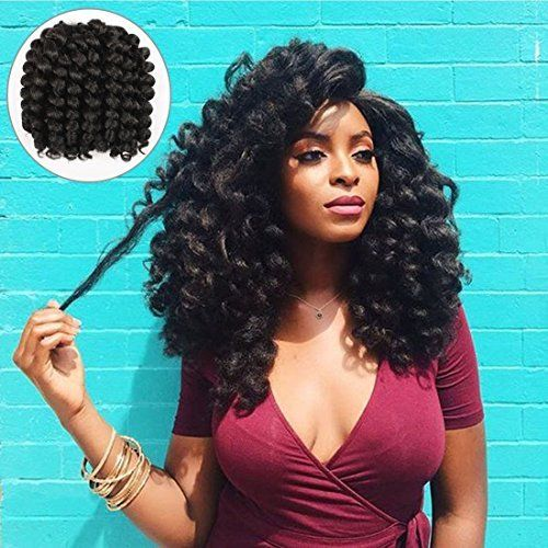 Wedding Hairstyles In Jamaica: Alivovo 8 Inch Jumpy Wand Curl Braids Hair 4 Packs/Lot 20